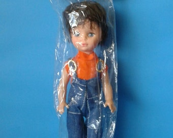"Vintage Doll "" Brunette Bubble Cut Hair "" 1960's Mod"