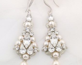 Wedding earrings - statement bridal earrings
