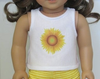Daisy Tank Top - 18 Inch Doll Clothes // Clothing