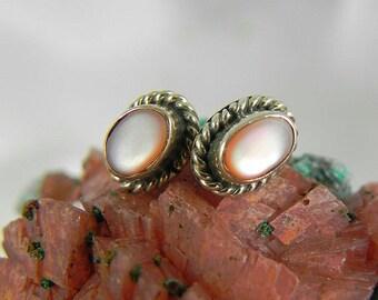 Mother of Pearl Sterling Earrings