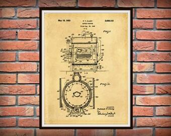 Patent 1949 Coffee Roaster - Wall Art Print - Kitchen Art- Poster - Restaurant Wall Art - Housewares - Coffee Shop Wall Art - Barista Art