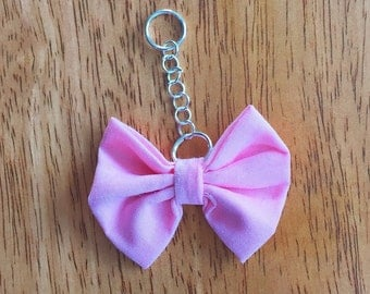 Pink Bow Key Chain