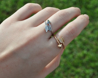 Arrow Wrap Around Ring | Gold or Silver