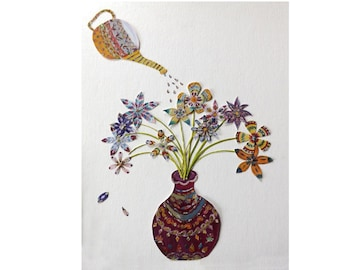 Teapot and Vase Card