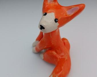 Ceramic Fox Figurine