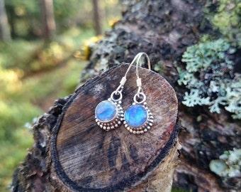 Mystical - Labradorite crystal silver earrings
