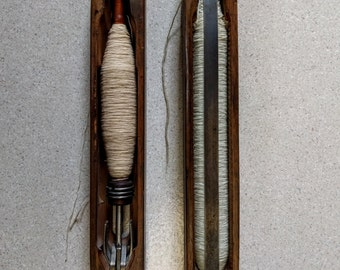 Two Vintage Weaving Loom Boat Shuttles