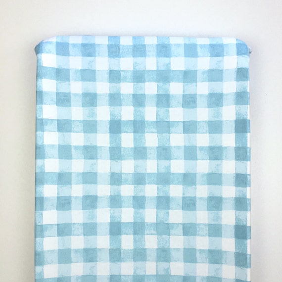 Changing Pad Cover >> Sommer Painted Gingham in Blue >> Nursery Decor >> ready-to-ship