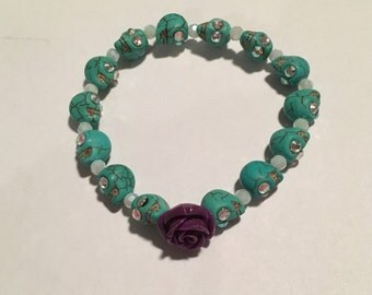Day of the Dead (Purple Flower) Bracelet