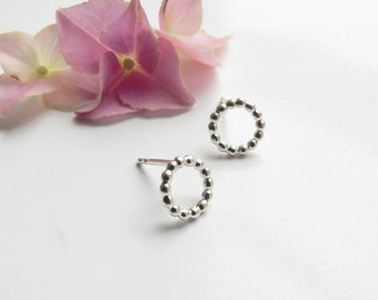 Earrings beads silver