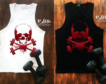 Skull and Dumbells Workout Tank S-XL