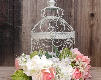 Birdcage Decor Shabby Chic Birdcage Coffee Table Decor