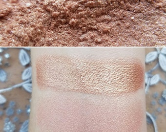 Whisper - Rose-Gold, Mineral Eyeshadow, Mineral Makeup, Pressed or Loose, Highlighter