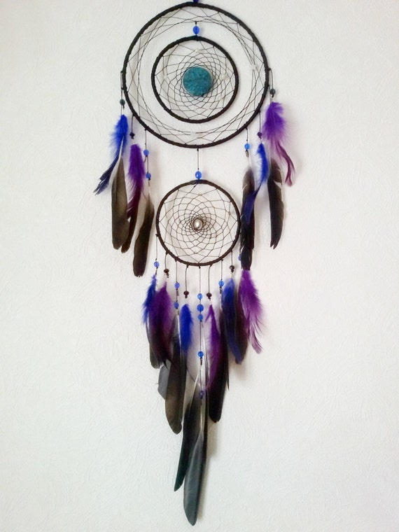 Galaxy Dream Catcher Large Black Dream By Dreamyflowerwonder