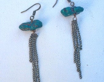 Dangle Earrings--Turquoise Earrings--Bohemian Earrings