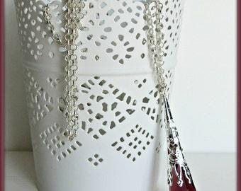 Crystal necklace, Violet glass prism pendulum, Gothic necklace, Victorian necklace, Crystal pendant, Fantasy necklace