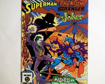 DC Comics Presents: Superman, Phantom Stranger and The Joker No.72 DC Comic Book Aug 1984 (Grade NM),Vintage Superman Joker Comic Book, B2