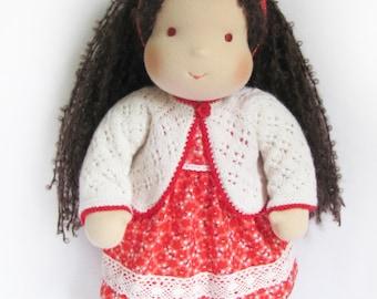 """14 """"(36 cm) Waldorf doll. Steiner doll-cloth doll-handmade doll-soft doll-waldorfpuppe-organic rag doll-girls gift-birthday gift"""