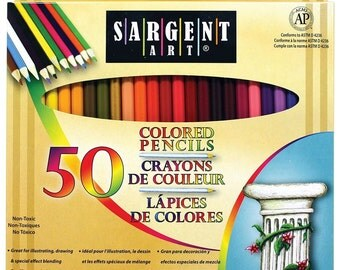 Sale! Sargent Art 50-Count Assorted Colored Pencils