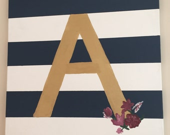 Large Initial Striped Painting