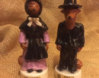 Limited Edition Amish Fox Jack Daniel's, Ceramic Whiskey Bottles