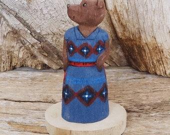 native american,navajo,native,native american art,folk art,Native American Folk Art,bear,navajo folk art,wood carving, Navajo Folk Art Bear