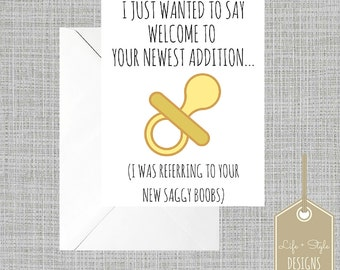 Funny Baby Card,Funny New Mom Card,Gender Neutral, Baby Card,Congratulations Baby Card,Modern Baby Shower Card, Funny baby shower,Mom Card
