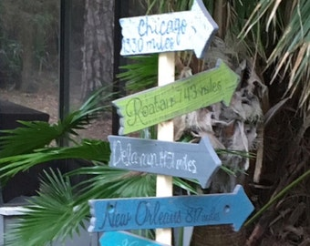 Rustic Directional Signs, Beach Directional Signs, Directional Signs, Beach Signs, Outdoor Signs, Outdoor Patio, Bar Signs. Outside Living
