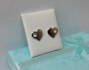 Heart Stud Earrings 925 Silver KO138
