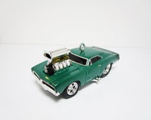 """3"""" Custom Cool Classic 1969 Dodge Charger R/T Die-Cast Diecast Car Christmas Tree Ornament Decoration"""