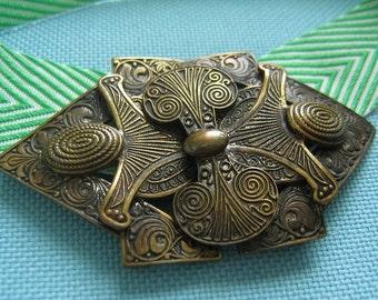 Etruscan Revival Czech Belt Buckle