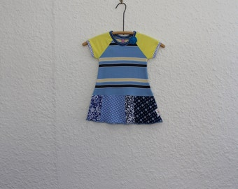 Baby Dress, Recycled T Shirt Dress, Girl's Size 1 Dress, Upcycled Tshirt Dress, Repurposed T Shirt Dress, Short Sleeve Dress, Girl's Dress
