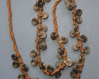 Vintage Tribal Primitive Naga Necklace of Old Beads For ... |Naga Jewelry