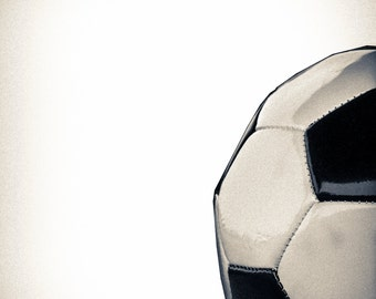 Sports Photography, Vintage Modern Soccer ball, Wall Decor, Wall Art, Home and Office Decor, Gifts