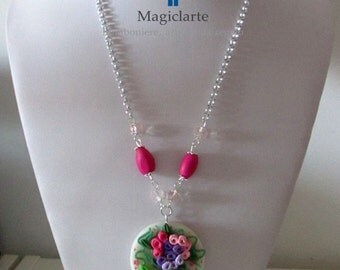 Necklace with Locket made of fimo