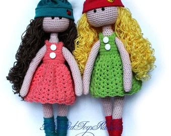 Doll Crochet Tilda doll Amigurumi toy OOAK Doll Stuffed doll Amigurumi doll Dressed Knitted doll Handmade doll Plush doll Doll with clothes