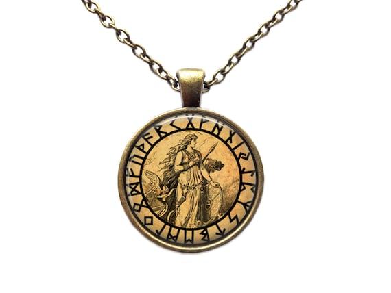 freya jewelry rune necklace occult pendant