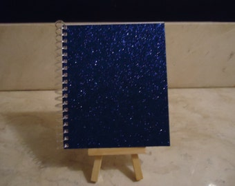 Textured Sparkly Blue Notebook (Four Available)