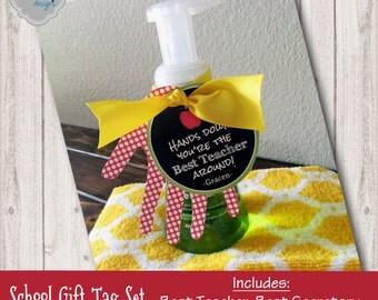 Printable School Gift Tag Set - TeachAPP001 -  School Pack {Best Teacher, Best Secretary, Best Librarian, Best Principal}