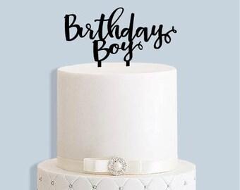 Birthday Boy Cake Topper