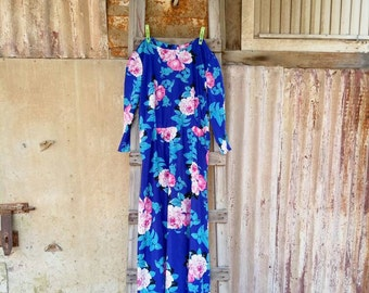 Womens Clothing, Vintage Dress, Dresses, 70s,70's Dress, 1970 Dress, Vintage Dress, 70's Flower Vintage Dress For Women 1970s, Free Shipping