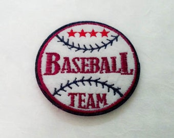 Baseball Iron on Patch(L) - Baseball Team Applique Embroidered Iron on Patch