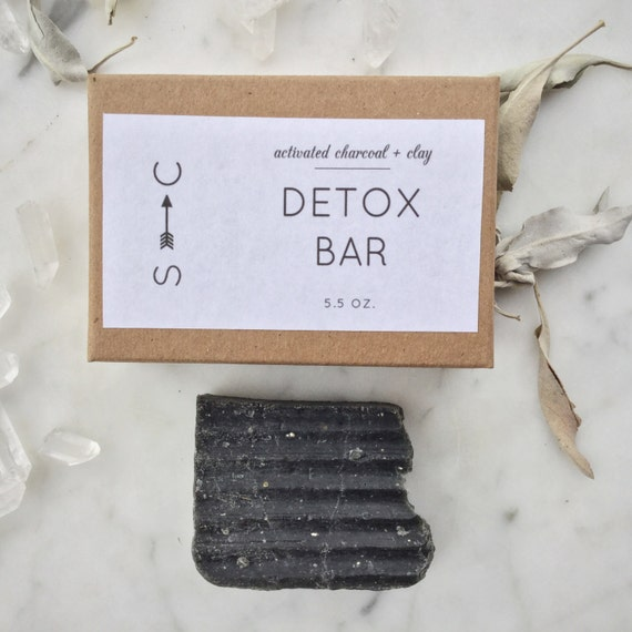The Detox Bar- Propolis Soap for Face and Body- with Activated Charcoal - Handmade Soap -All Natural Skincare
