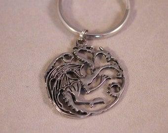 Game of Thrones Keychain, Khal dragon, game of thrones, Daenerys Targaryen Dragon, Drogon.  GOT Fans keychain.