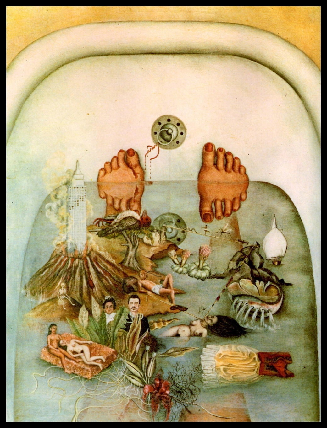 Frida Kahlo What The Water Gave Me Circa 1938