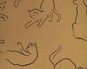 Vintage Cat Double sized flat and fitted sheets