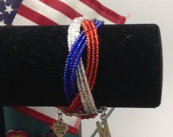 Marine Braided Cuff Bracelet