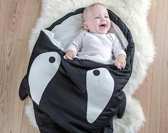 Baby cocoon Baby sleeping bag Baby girl gift Whale Blanket Baby blanket Baby boy gift Swaddle Swaddling Pram blanket Stroller liner