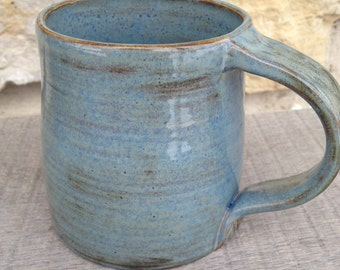 Denim Blue Wheel Thrown Pottery Stoneware Mug