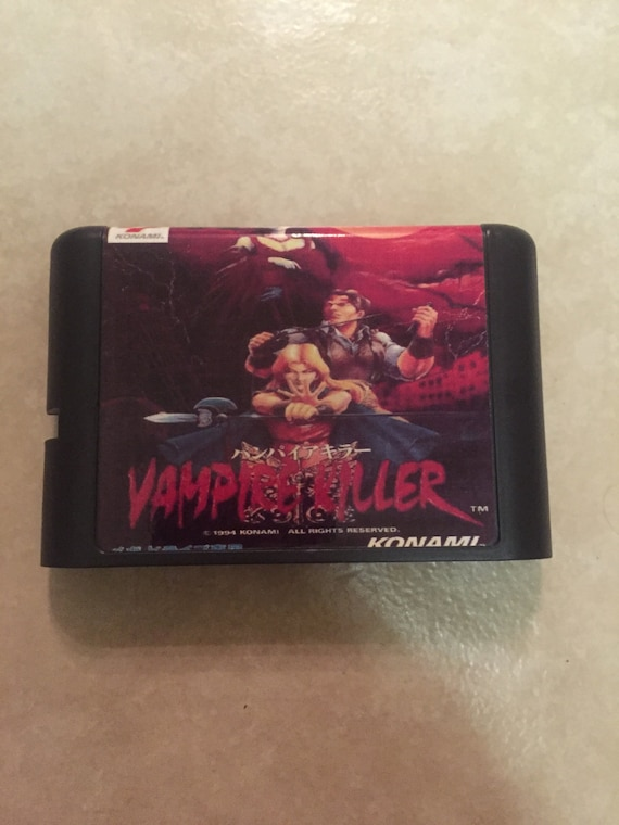 Sale Vampire Killer Fan Made Custom Sega Genesis Game 16 Bit